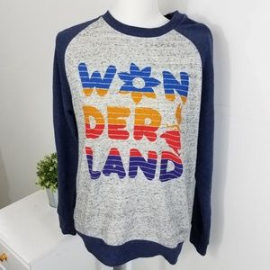 Disney Alice in Wonderland Raglan Sweatshirt Gray